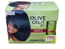 Organic Root Stimulator Olive Oil Built-In Protection No-Lye Relaxer System, Extra Strenght